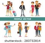 big set group of diverse flat... | Shutterstock .eps vector #283732814