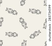 doodle nurse seamless pattern... | Shutterstock .eps vector #283734599