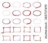 vector highlighter elements ...   Shutterstock .eps vector #283737695