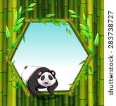 cute panda with bamboo... | Shutterstock .eps vector #283738727
