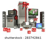 home appliance with ribbons and ... | Shutterstock . vector #283742861