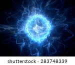 blue glowing ball lightning ... | Shutterstock . vector #283748339