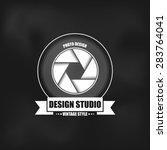 photography logo in vintage... | Shutterstock .eps vector #283764041