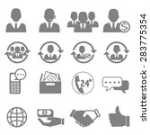 vector icons for business and... | Shutterstock .eps vector #283775354