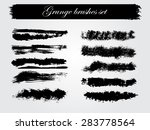 grunge brushes set.abstract... | Shutterstock .eps vector #283778564