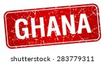 ghana red stamp isolated on... | Shutterstock .eps vector #283779311