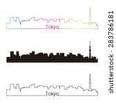 tokyo v2  skyline linear style... | Shutterstock .eps vector #283786181