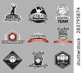 set of various basketball... | Shutterstock . vector #283795874