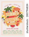 beautiful summer festival web... | Shutterstock .eps vector #283796834