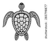 zentangle tribal stylized... | Shutterstock .eps vector #283798877