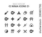 ninja icons set. | Shutterstock .eps vector #283801781