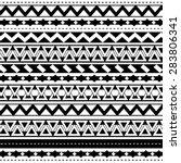 tribal seamless pattern | Shutterstock .eps vector #283806341
