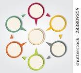 infographic design template.... | Shutterstock . vector #283809359