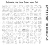 enterprise line hand drawn icon ... | Shutterstock .eps vector #283811105