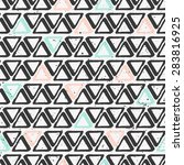 vector seamless pattern with... | Shutterstock .eps vector #283816925