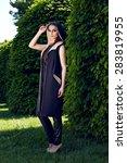 beautiful sexy young woman... | Shutterstock . vector #283819955