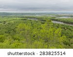 Wisconsin River Meets Mississippi River Scenic View