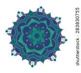 mandala.pagan symbol. schematic ...   Shutterstock .eps vector #283830755