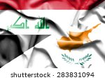 waving flag of cyprus and iraq | Shutterstock . vector #283831094