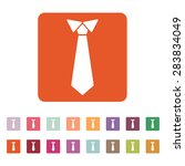 The Tie Icon. Necktie And...