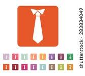 The Tie Icon. Necktie And...