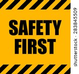 safety first industrial yellow... | Shutterstock .eps vector #283845509