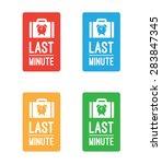 last minute tickets | Shutterstock .eps vector #283847345