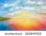 seascape  abstraction ...   Shutterstock . vector #283849505