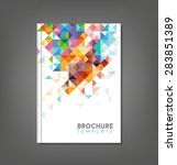 brochure template  book cover ... | Shutterstock .eps vector #283851389