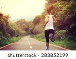 young fitness woman runner... | Shutterstock . vector #283852199