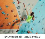 beautiful sporty young woman...   Shutterstock . vector #283859519