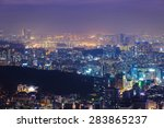 seoul city and han river ... | Shutterstock . vector #283865237