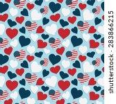 usa heart seamless pattern... | Shutterstock .eps vector #283866215