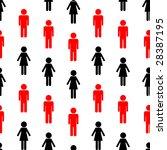 vector seamless woman and man... | Shutterstock .eps vector #28387195