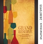wine list design. vector... | Shutterstock .eps vector #283873955
