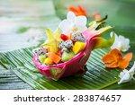 Exotic Fruit Salad Served In...