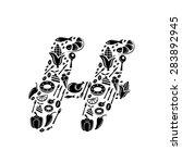 abstract vector alphabet   h... | Shutterstock .eps vector #283892945