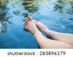 woman legs in the swimming pool | Shutterstock . vector #283896179