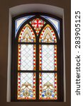 Stained Glass Old Window Of...