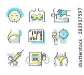 plastic surgery icons  medical... | Shutterstock .eps vector #283937597