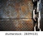 Heavy Metal Chain On Metal Plate