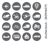 set of transport icons in flat... | Shutterstock . vector #283946075