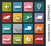 flat icons of transport for web ... | Shutterstock . vector #283946141