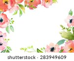 card template with watercolor... | Shutterstock . vector #283949609