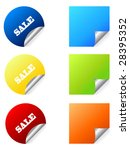 set of beautiful  stickers with ... | Shutterstock .eps vector #28395352
