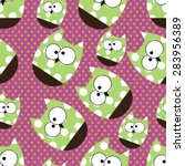 vector seamless pattern with... | Shutterstock .eps vector #283956389