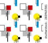 seamless pattern  in retro... | Shutterstock .eps vector #283965581