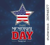 abstract memorial day with some ... | Shutterstock .eps vector #283968377