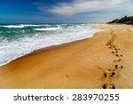 Footprints In The Sand Beach ...