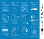 vector set of business data... | Shutterstock .eps vector #283973675